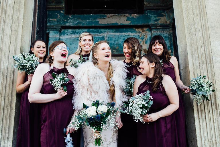 CEREMONY CANDIDS AT THE ASYLUM LONDON WEDDING PHOTOGRAPHY BRIDESMAIDS GROOMSMEN