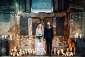 COUPLE PORTRAITS BRIDE GROOM AT THE ASYLUM LONDON WEDDING PHOTOGRAPHY